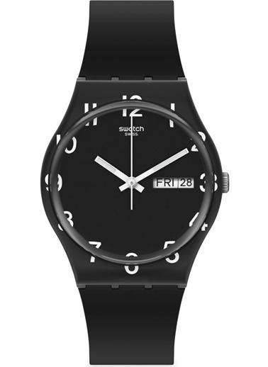 Swatch Gb757 OVER BLACK Erkek Saati Siyah
